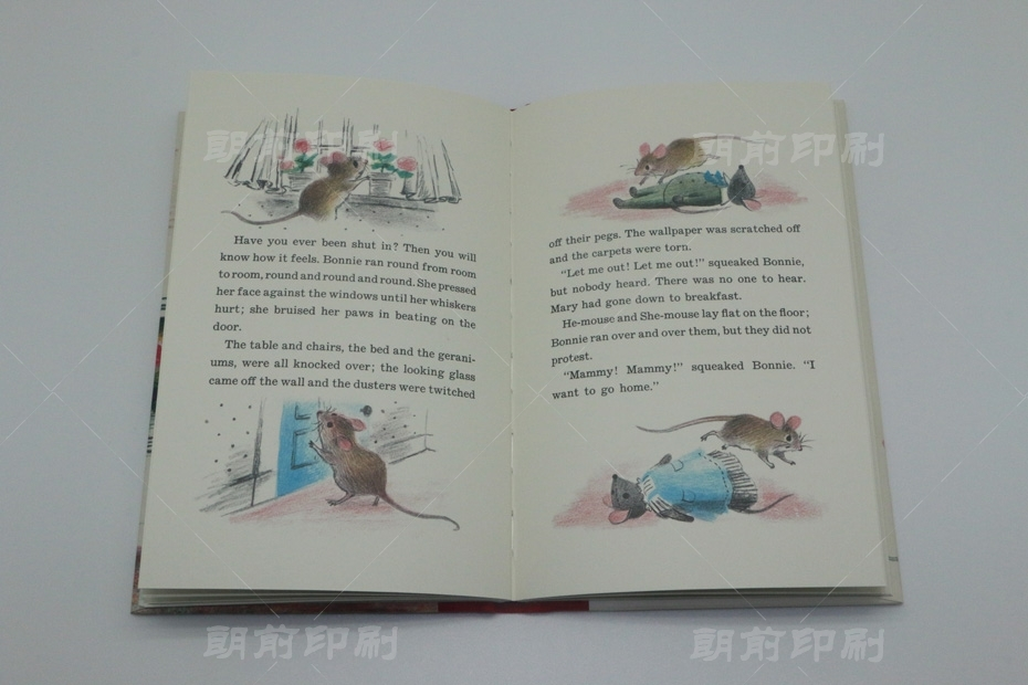 老鼠的家 三片接精装书印刷