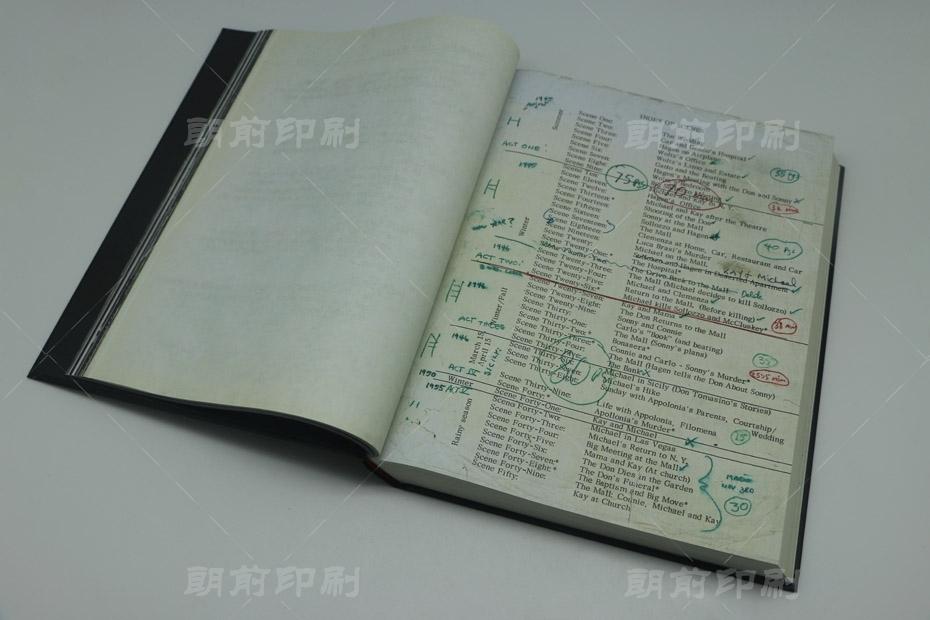 教父笔记 硬壳圆脊精装书印刷