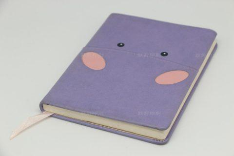 可爱 PU料皮壳圆脊精装笔记本印刷
