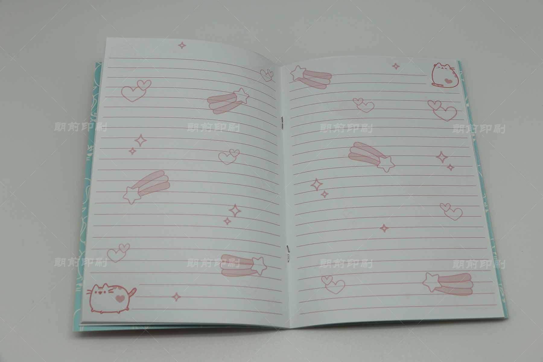 可爱 骑订笔记本印刷