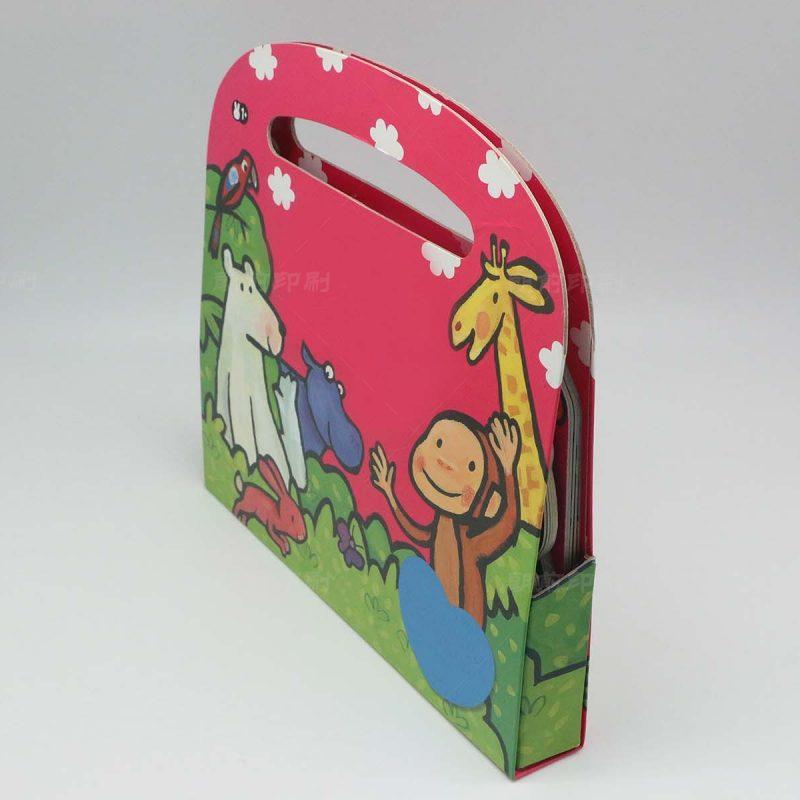 儿童手提到书盒印刷